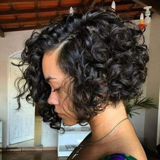 Side-parted bob with a ton of texture